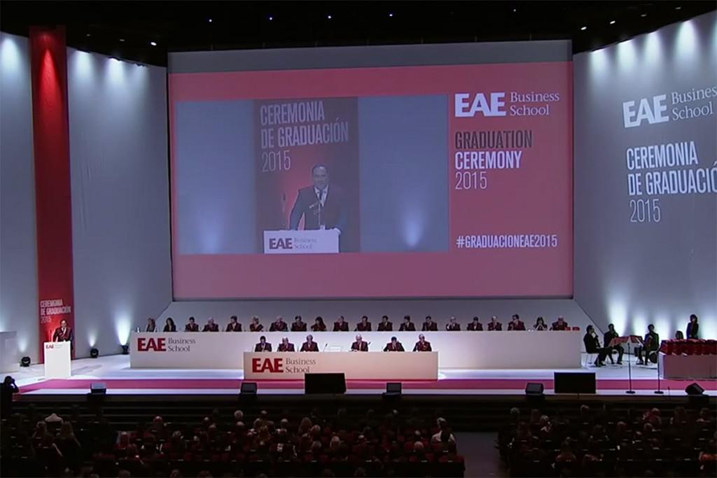 Ceremonia graduación EAE Business School 2015