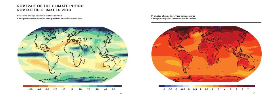 Escenario del clima en el año 2100 según IPCC