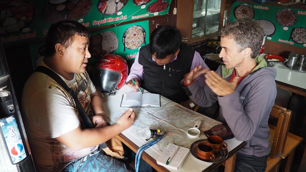 Reunión con Lhakpa, Temba y Pep en Kathmandu