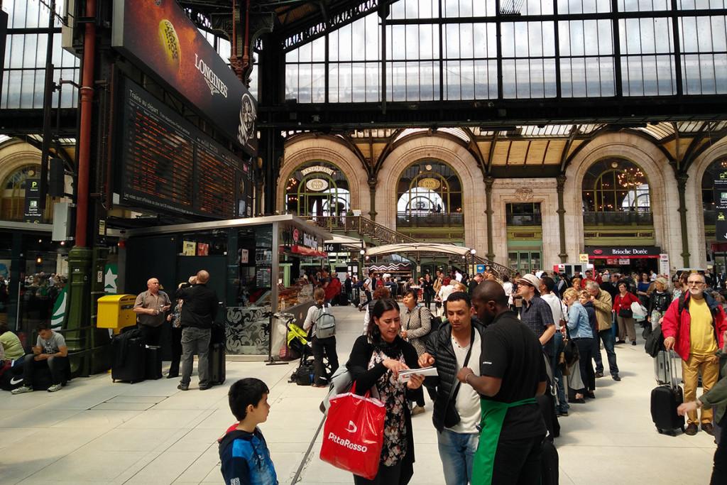 Gente en la Gare de Lyon