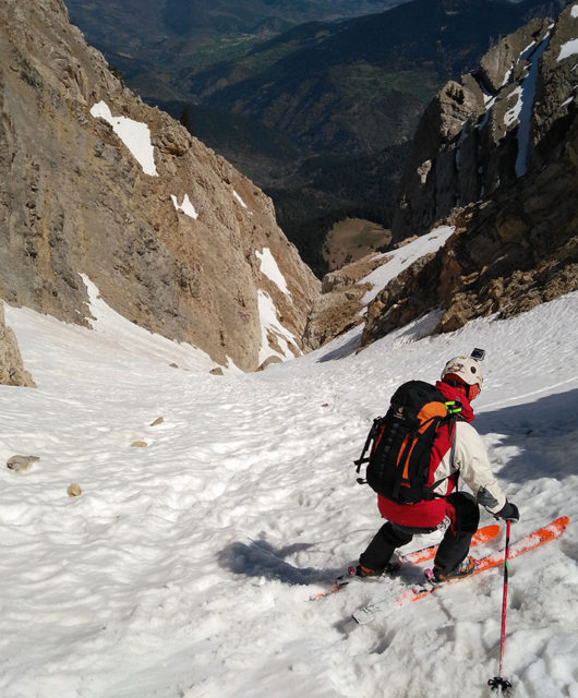 Baixant amb esquís Canal d'Ordiguer